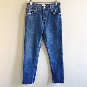 Zara High Waisted Cutoff Jean